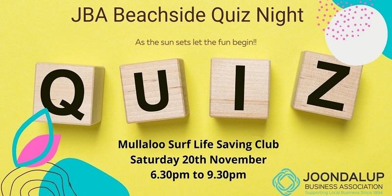 JBA Beachside Quiz Night